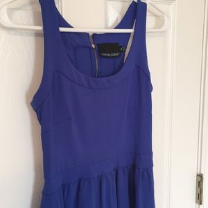 Royal blue XS casual dress with pockets